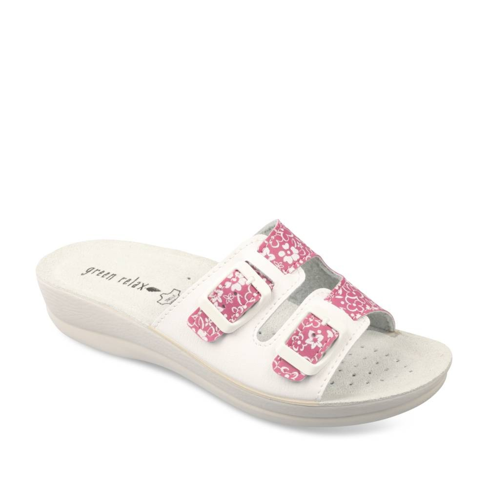 Mules Et Sabots Rose Green Relax