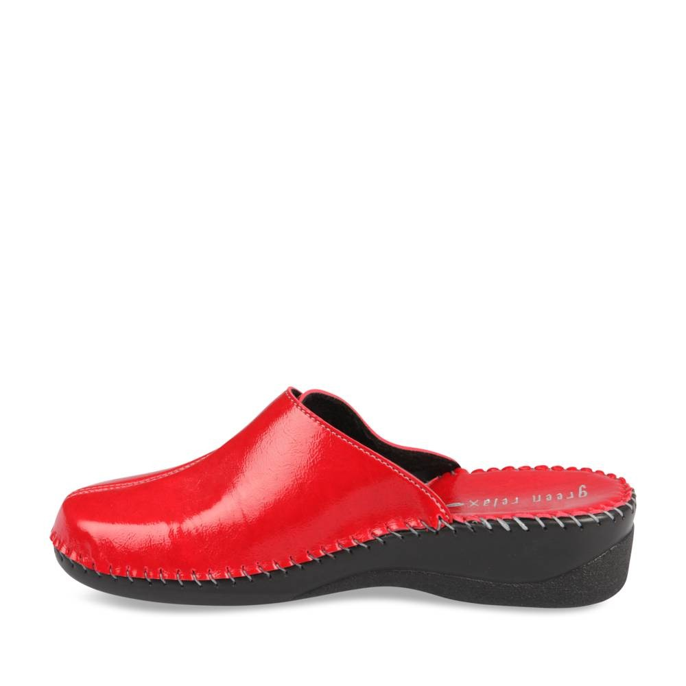 Mules Et Sabots Rouge Green Relax