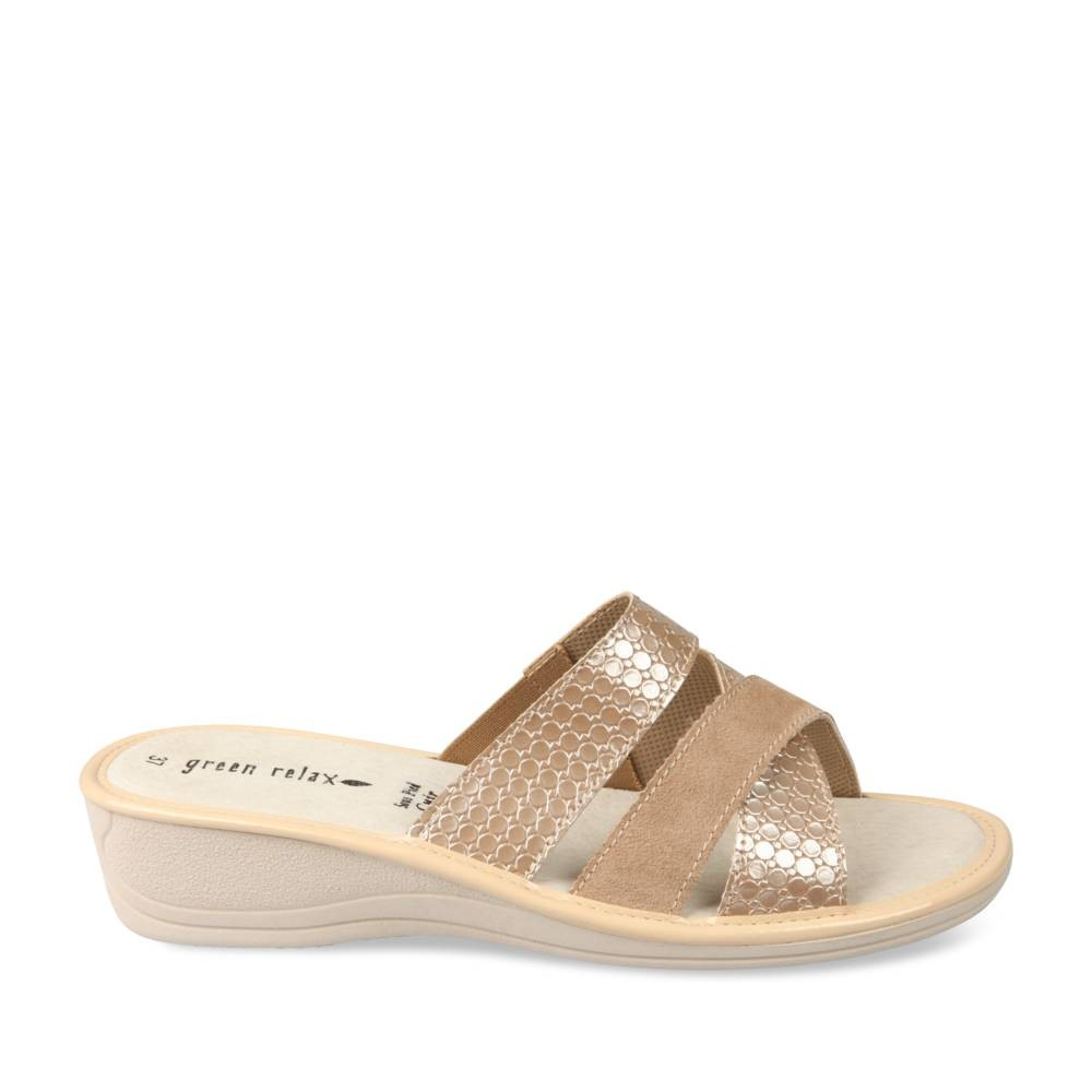 Mules Beige Green Relax 0EFOr