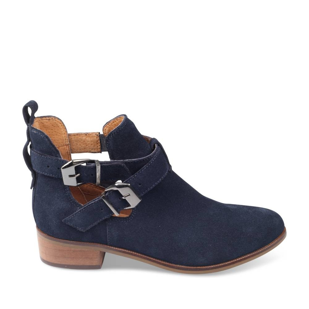 bottines bleu megis casual - femme - destockage