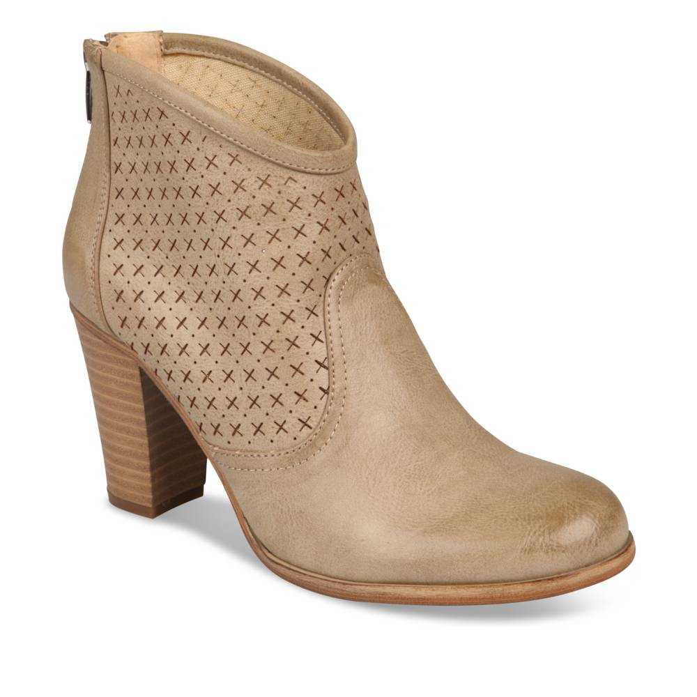 bottines beige angela thompson - femme - destockage