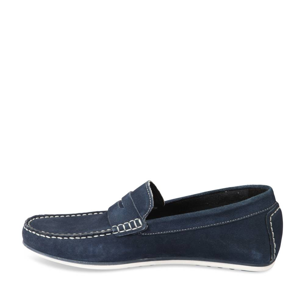 Mocassins Bleu Cape Board Cuir