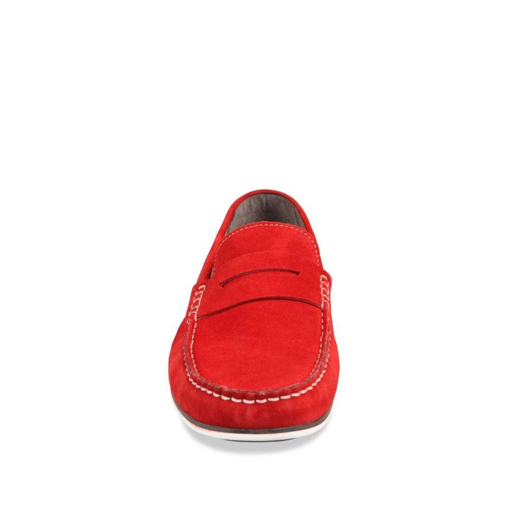 Mocassins Rouge Cape Board Cuir