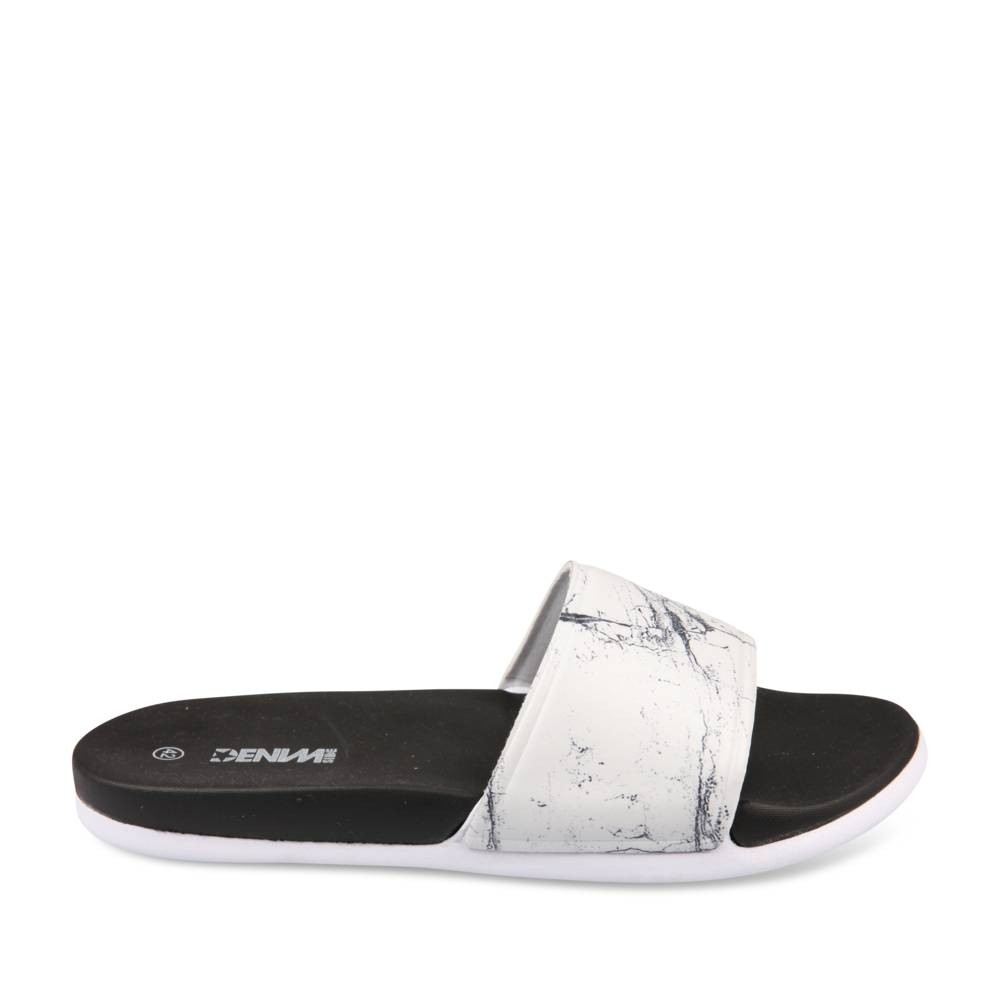 Nu-Pieds Blanc Denim Side