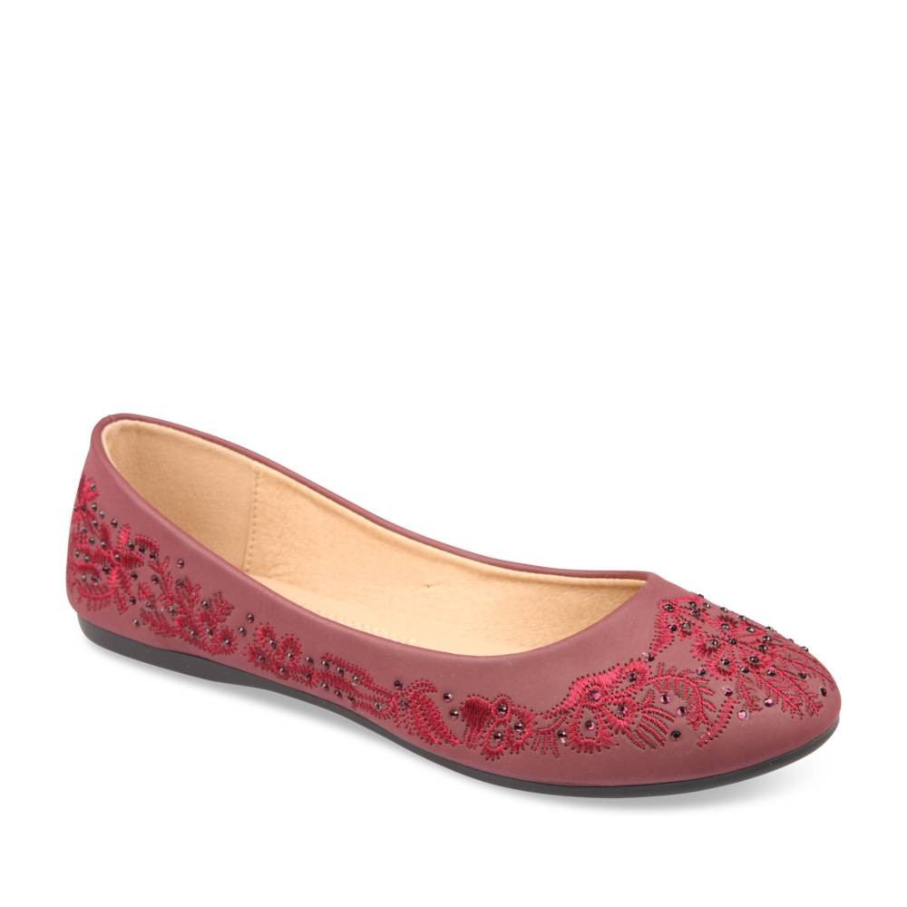 Ballerines Rouge Merry Scott Qyh87
