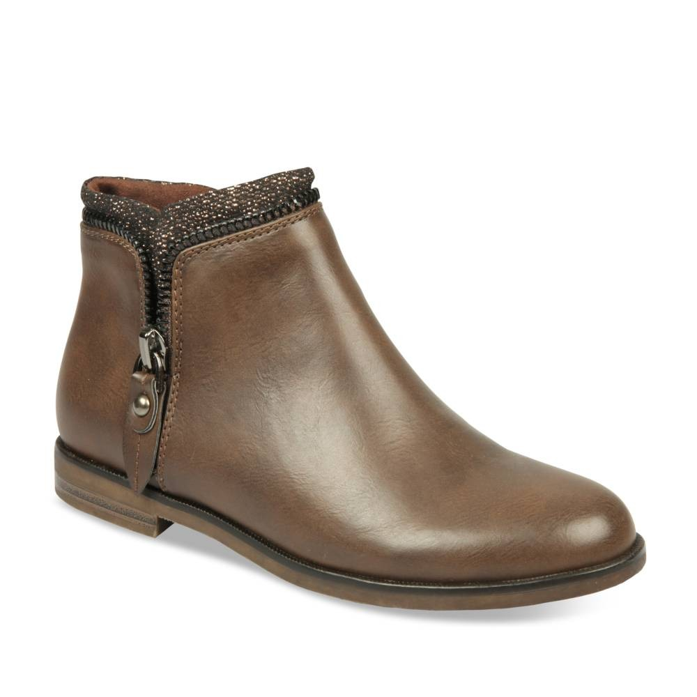 Bottines plates MARRON MERRY SCOTT - Bottines et boots - Femme
