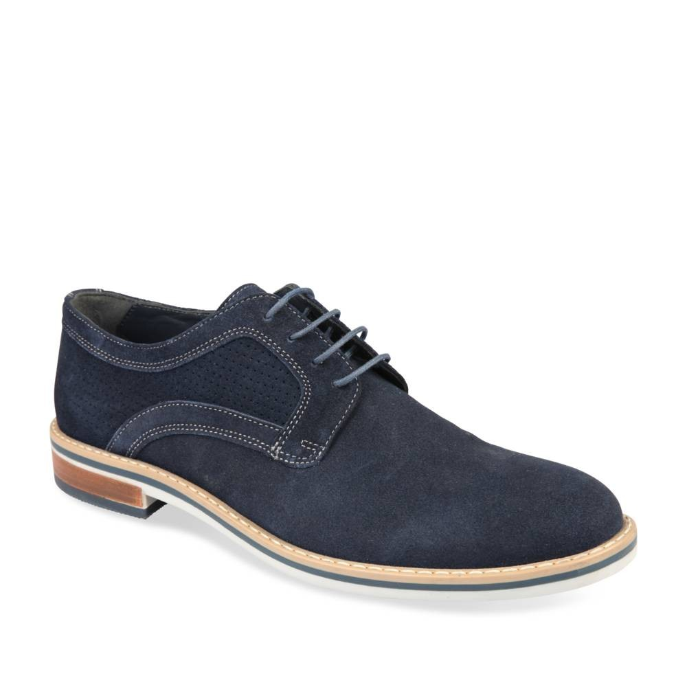 Derbies Bleu Denim Side Cuir TjDFWcC