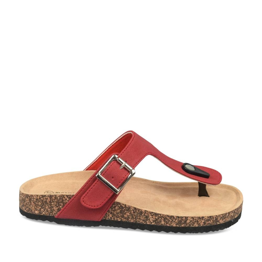 collections Vente Footlocker Finishline Tongs plates ROUGE MERRY SCOTT - Tongs - Femme NmYQq