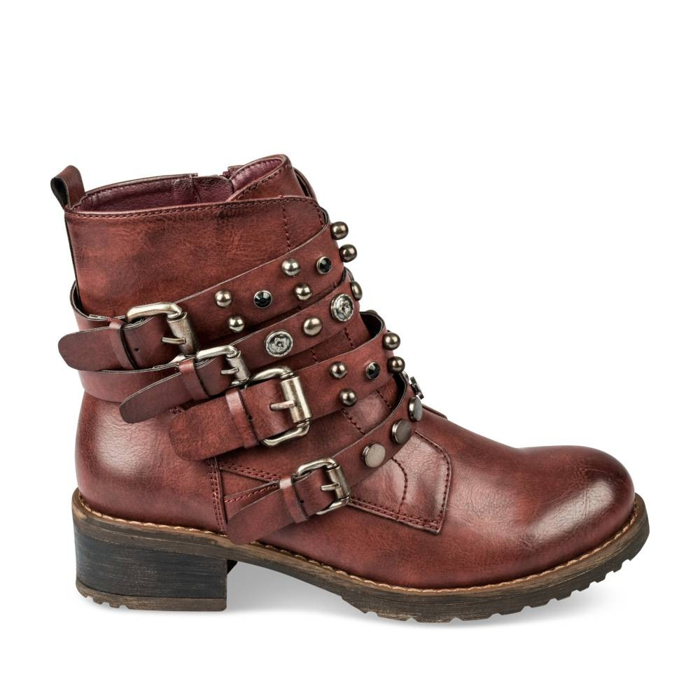 chaussea bottines plate bordeaux