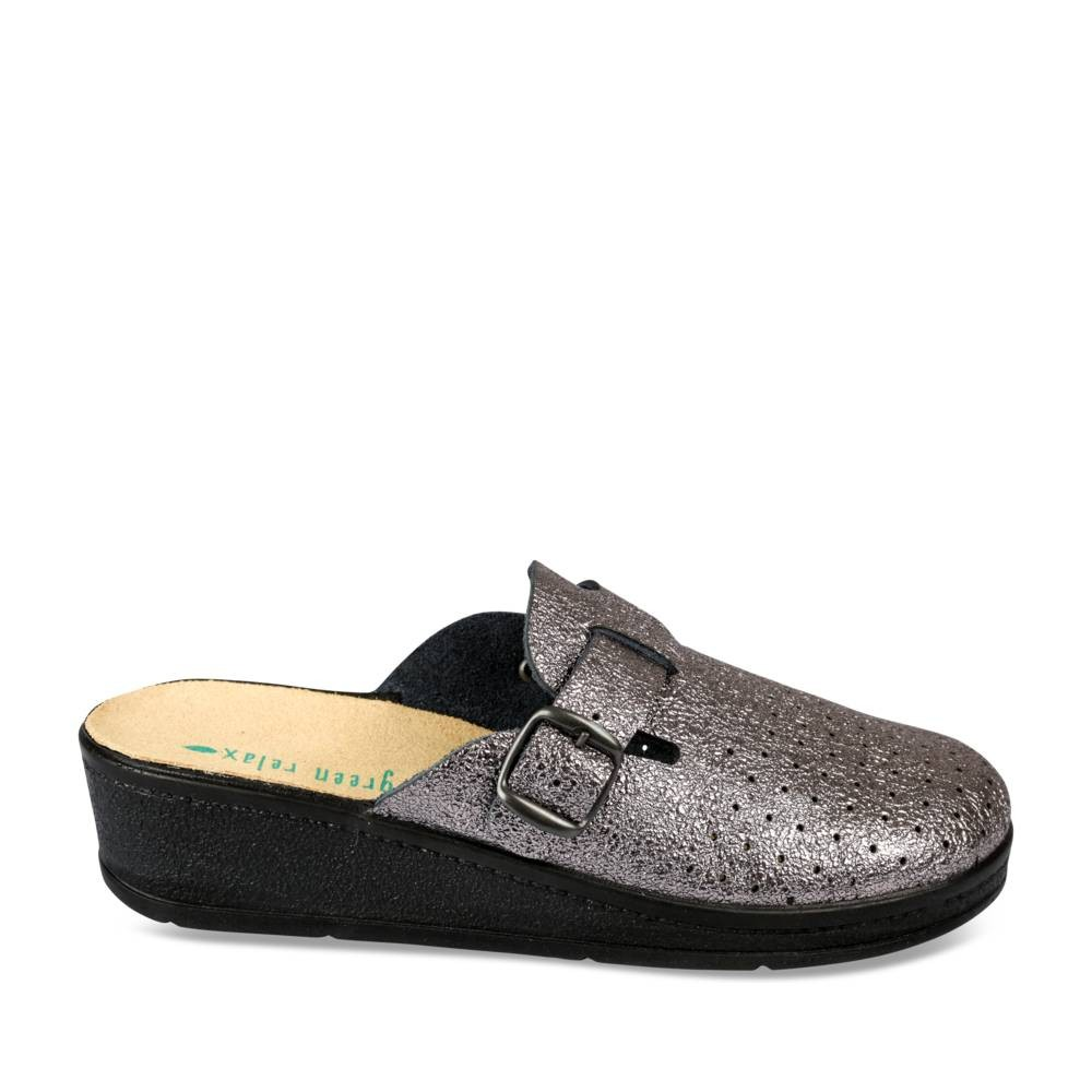 Green Relax CuirEt Cuivre Femme Mules Sabots l1TKFJc