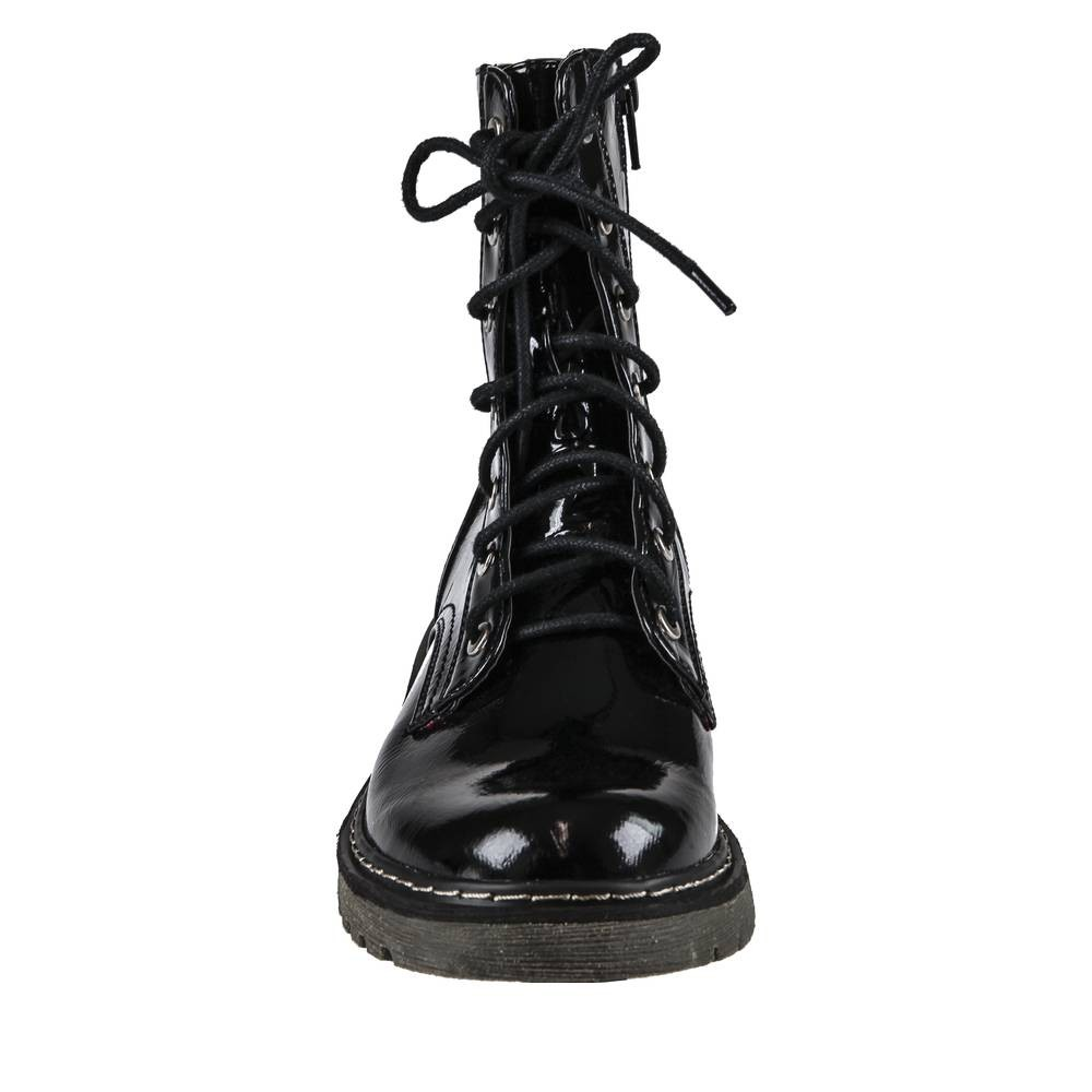 bottines lacets vernies femme
