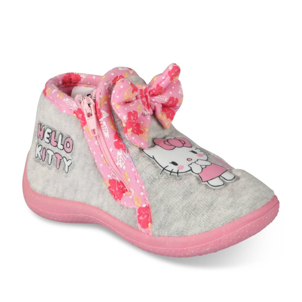 chaussons_gris_rose_fille_hello_kitty