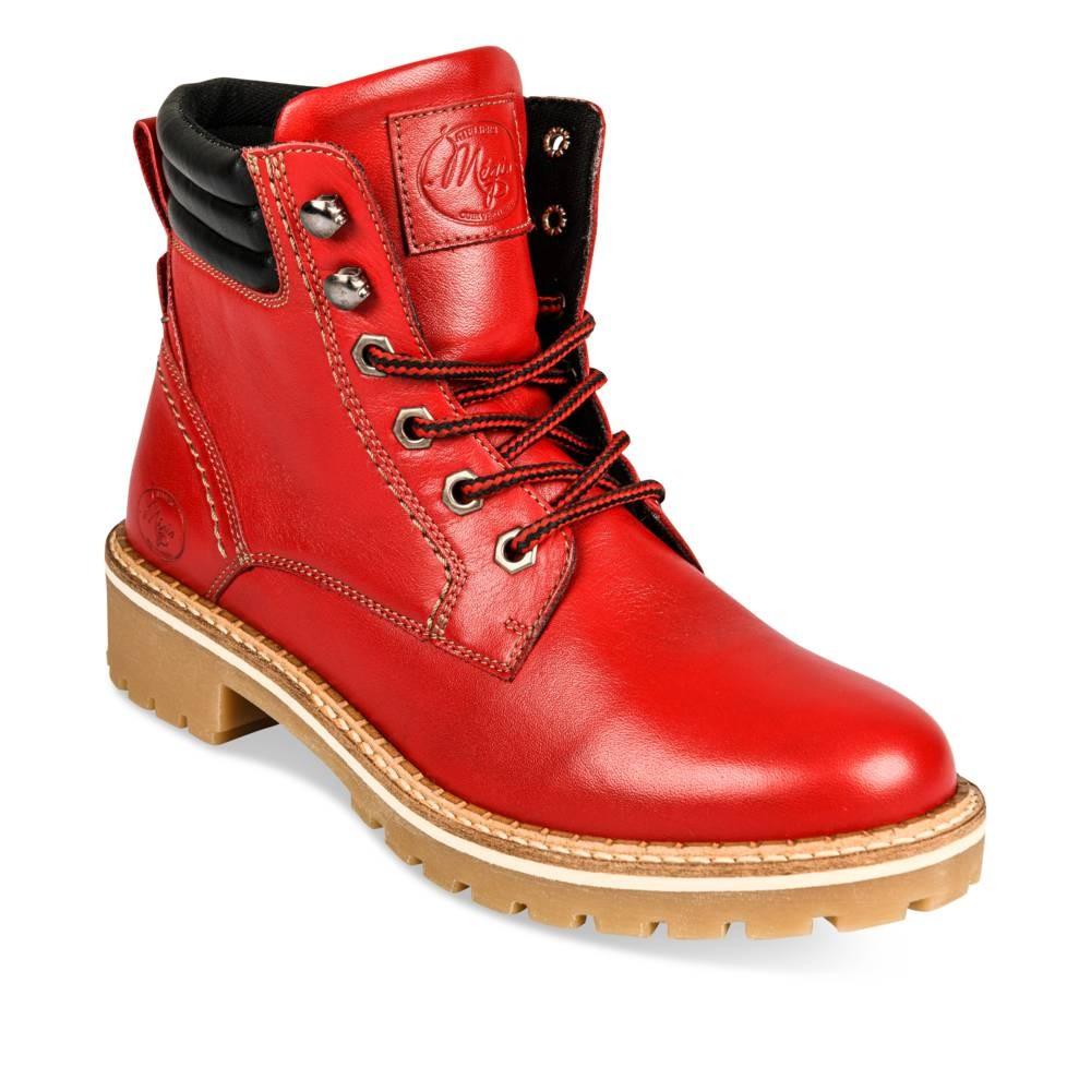 Bottines plates ROUGE MERRY SCOTT LEATHER
