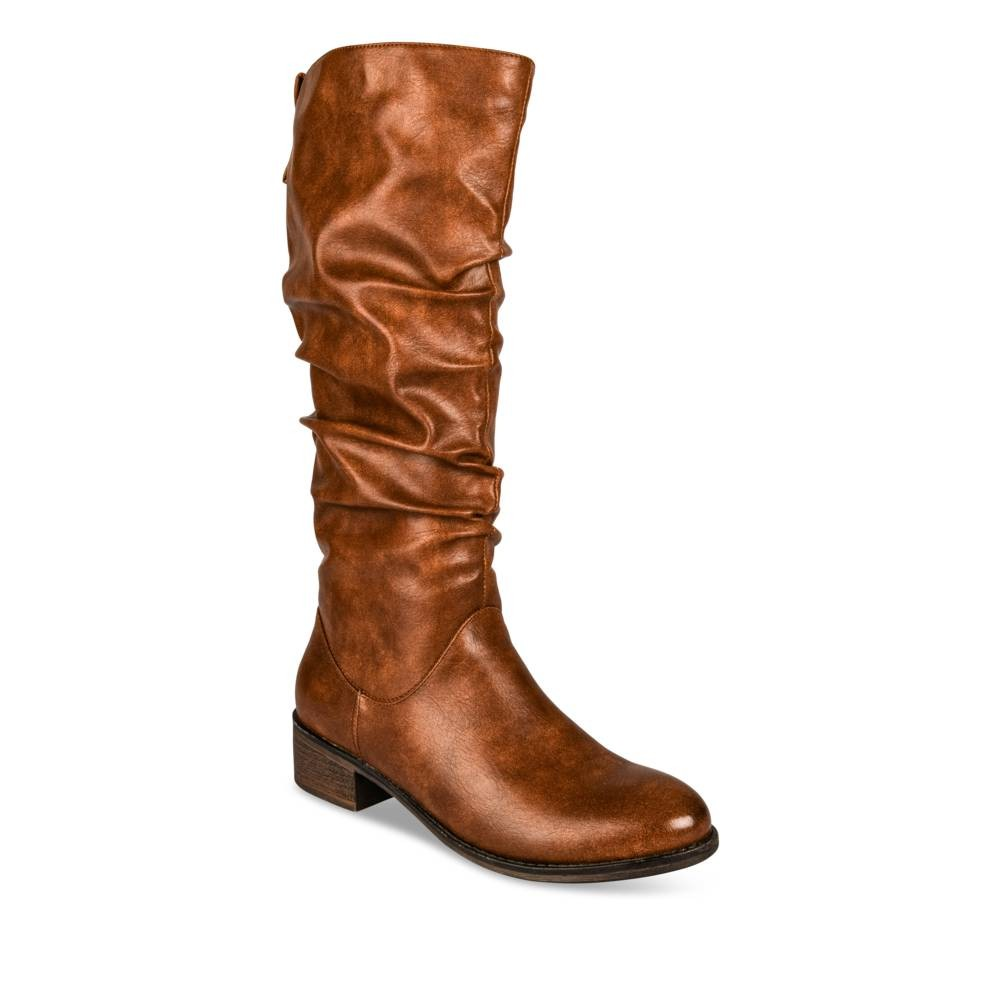 Bottes à talon COGNAC ANGELA THOMPSON