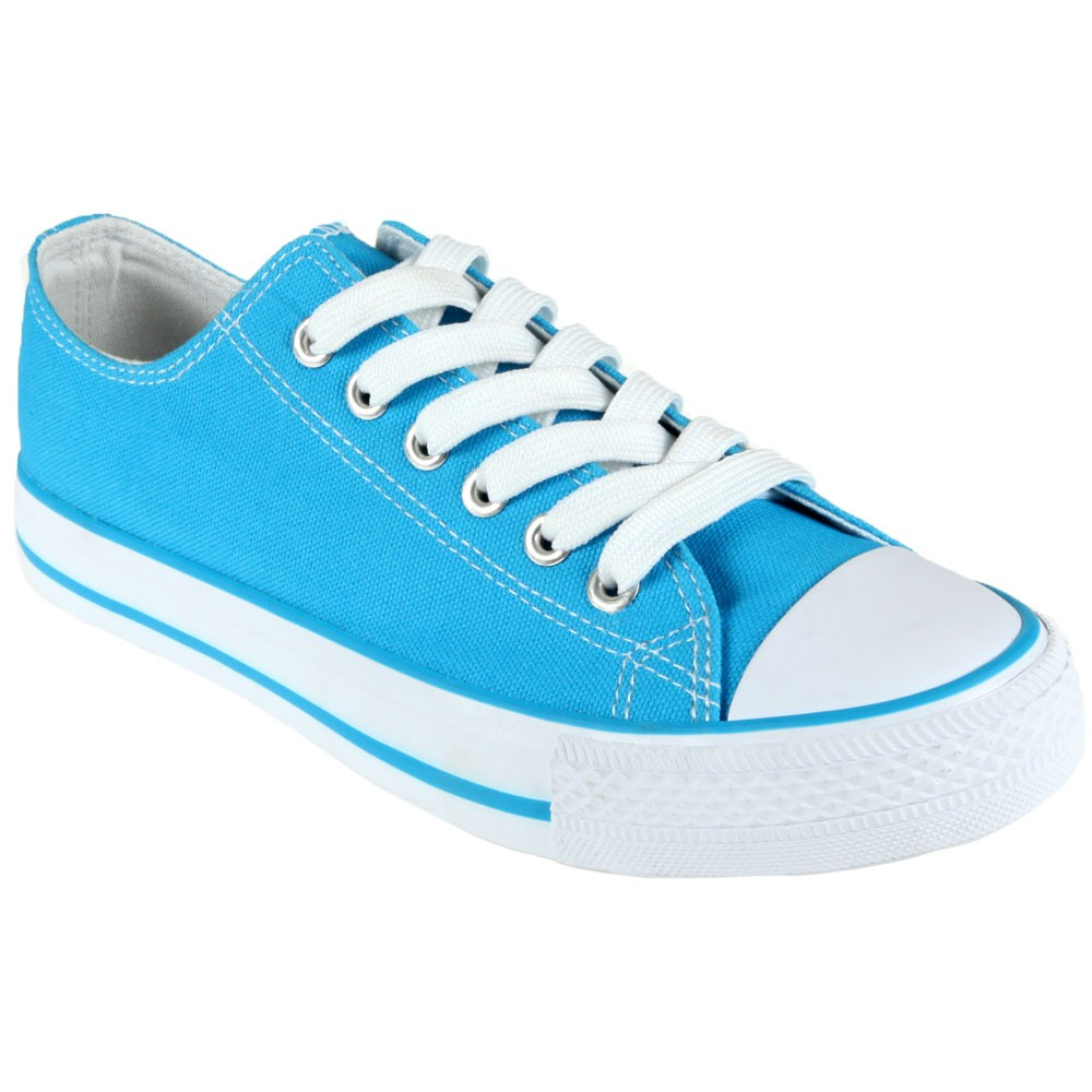 Chaussure-Toile-turquoise