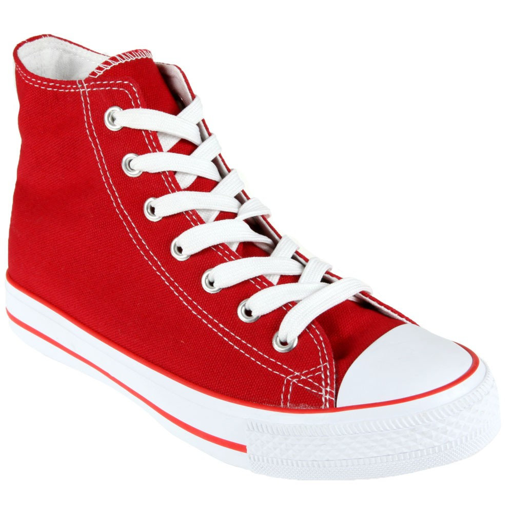 Chaussure-toile-rouge