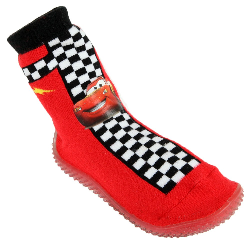 chaussette-cars-rouge