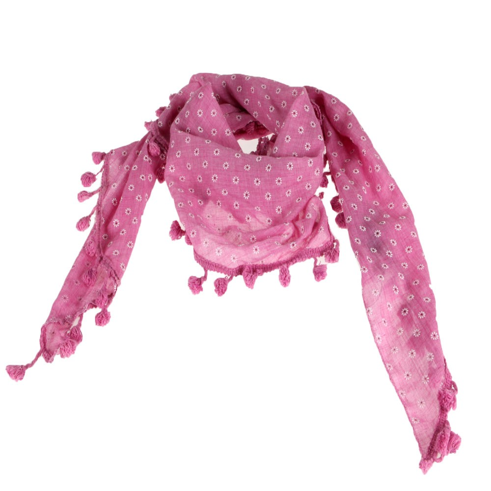 Foulard-triangle-rose