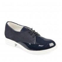 Derbies BLEU LOVELY SKULL CUIR