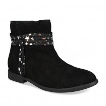 Bottines NOIR LOVELY SKULL CUIR