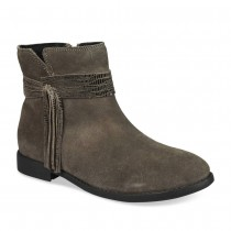 Bottines GRIS LOVELY SKULL CUIR