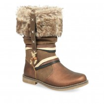 Bottines MARRON LOVELY SKULL