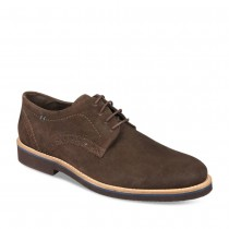 Derbies MARRON DENIM SIDE CUIR
