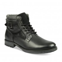 Bottines NOIR DENIM SIDE CUIR