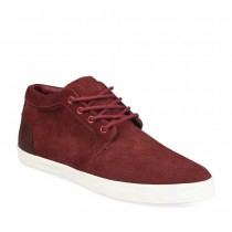 Baskets ROUGE DENIM SIDE CUIR