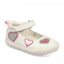 Ballerines BLANC FREEMOUSS GIRL CUIR