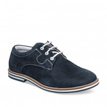 Derbies BLEU TAMS CUIR