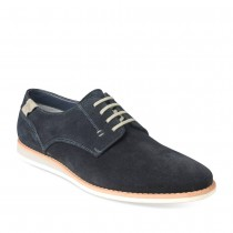 Derbies BLEU DENIM SIDE CUIR