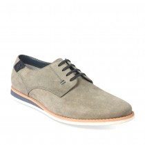 Derbies GRIS DENIM SIDE CUIR