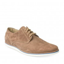 Derbies BEIGE DENIM SIDE CUIR