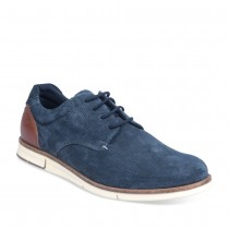 Baskets BLEU DENIM SIDE CUIR