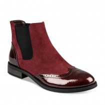 Bottines plates ROUGE MERRY SCOTT