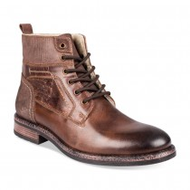 Bottines MARRON DENIM SIDE CUIR
