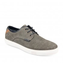 Baskets GRIS DENIM SIDE CUIR