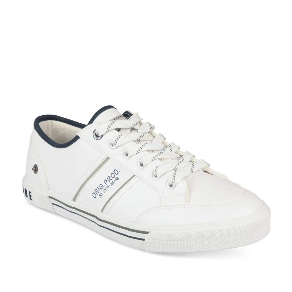 Hoge sneakers WIT DENIM SIDE